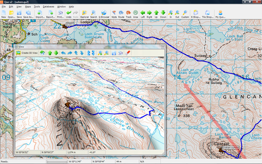Create, edit and transfer waypoints, routes and tracks between PC and GPS unit.